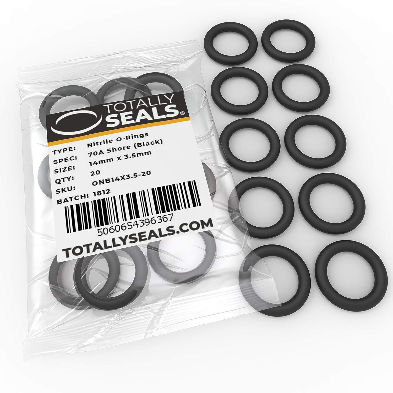 O-Ringe aus Nitrilkautschuk 14 mm x 3,5 mm Schwarz 21 mm Au/ßendurchmesser verschiedene Packungsgr/ö/ßen 1 70A Shore H/ärte