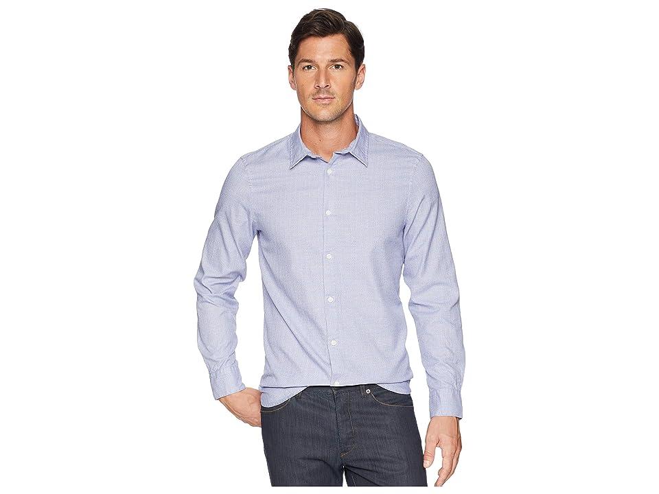 Calvin Klein Long Sleeve Windowpane Shirt (Clear Sky) Men