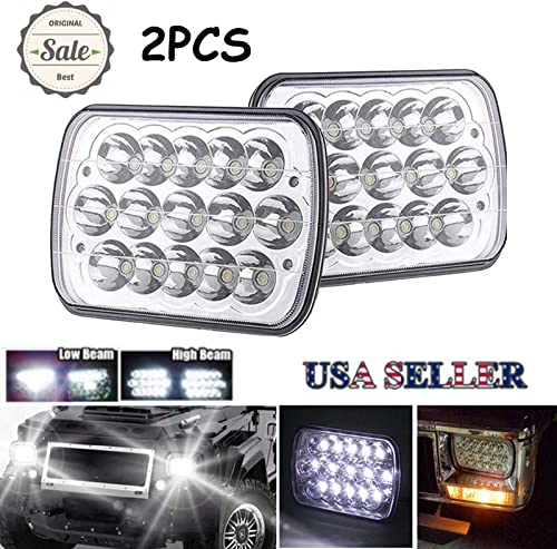 lowest LED Headlight 7X6 / 5X7 for Ford F250 F350 wholesale Super Duty High Low Beam Rectangular online H6014 H6052 H6054 6054 Super Bright Headlamp Replacement sale