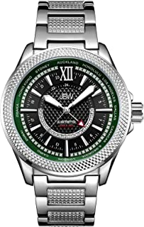 JBW Men's 10-Year Anniversary Globetrotter 21 Diamond Swiss GMT Movement Watch - J6365-10A