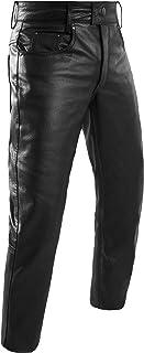 HWK Leather Motorcycle Pants For Men & Women Bikers Rider Moto Racing Riding Pants (WAIST 34)