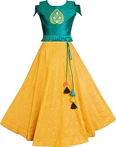 Fashion Dream Girl's Jacquard Readymade Lehenga Choli