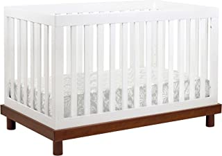 Babymod Olivia 3 in 1 Convertible Crib, Amber/White