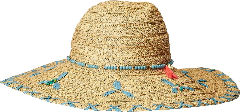 San Diego Hat Company Womens UBL6805OS Sun Brim w Turquoise Bead Trim