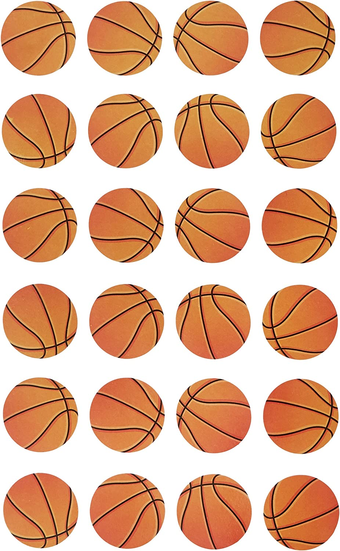 Darice 121427 24 Piece Basketball Sticker