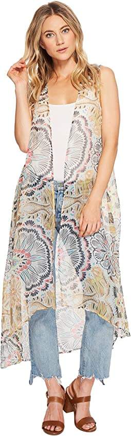 Steve Madden Exotic Escape Long Duster Vest