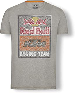 Red Bull KTM Mosaic Graphic T Shirt, Grey Mens Tshirt, KTM Factory Racing Original Clothing & Merchandise