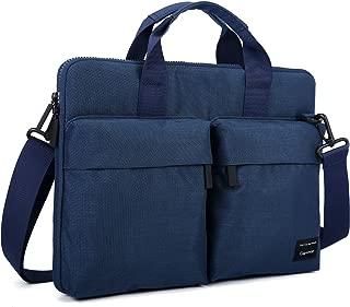 Laptop Shoulder Bag Cartinoe Business Laptop Briefcase Water Resistant Messenger Shoulder Bag with Strap Durable Office Bag Carry On Handle Case Fits 14 15 Inches Notebook for Women,Men - Blue