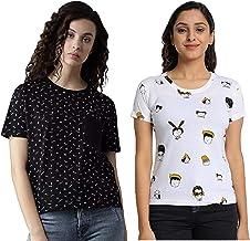 JUNEBERRY Women's T-Shirt(Pack of 2)