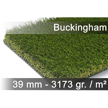 exteriortrend Kunstrasen Rasenteppich Buckingham Gr/ün in 19 Gr/ö/ßen