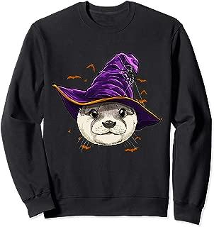 Otter Witch Hat Funny Halloween Otter Lover Whisperer Gift Sweatshirt