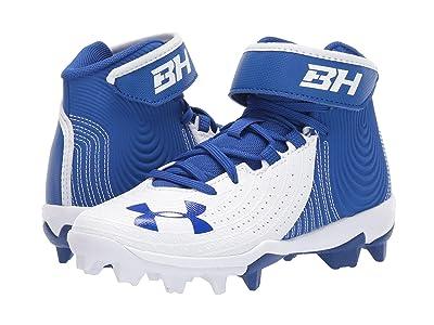 Under Armour Kids Harper 4 Mid RM Baseball (Little Kid/Big Kid) (Royal/White) Kids Shoes