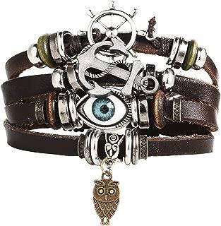 cengXY160h Bohemian Ethnic Round Nature Stone Gold Shell Handmade Rope Bracelet Fashion Women Bracelet /& Bangle Jewelry Accessary