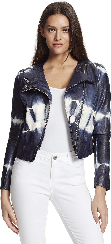 Skinnygirl Women's Dan Tie Dye Moto Jacket