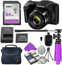 Canon PowerShot SX420IS–Cámara digital (Negro) con 64GB SD tarjeta de memoria + Accesorios