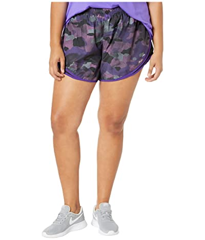 Nike Tempo Shorts Uni Print (Sizes 1X-3X) (Psychic Purple/Black/Wolf Grey) Women
