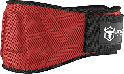 Iron Bull Strength Weightlifting Belt for Men and Women - 6 Inch Self-Locking Weight Lifting Back Support, Workout Back Support for Lifting, Fitness, Cross Training and Powerlifitng