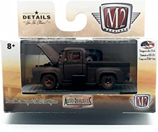 M2 Machines 1956 Ford F-100 (Semi-Gloss Black) - Auto-Projects Series Release 40 2017 Castline Limited Production 1:64 Scale Die-Cast Vehicle (R40 16-32)