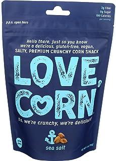 Love Corn, Corn Snack Sea Salt, 4 Ounce