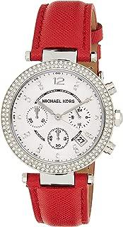 Michael Kors Womens Quartz Watch, Chronograph Display and Leather Strap MK2278