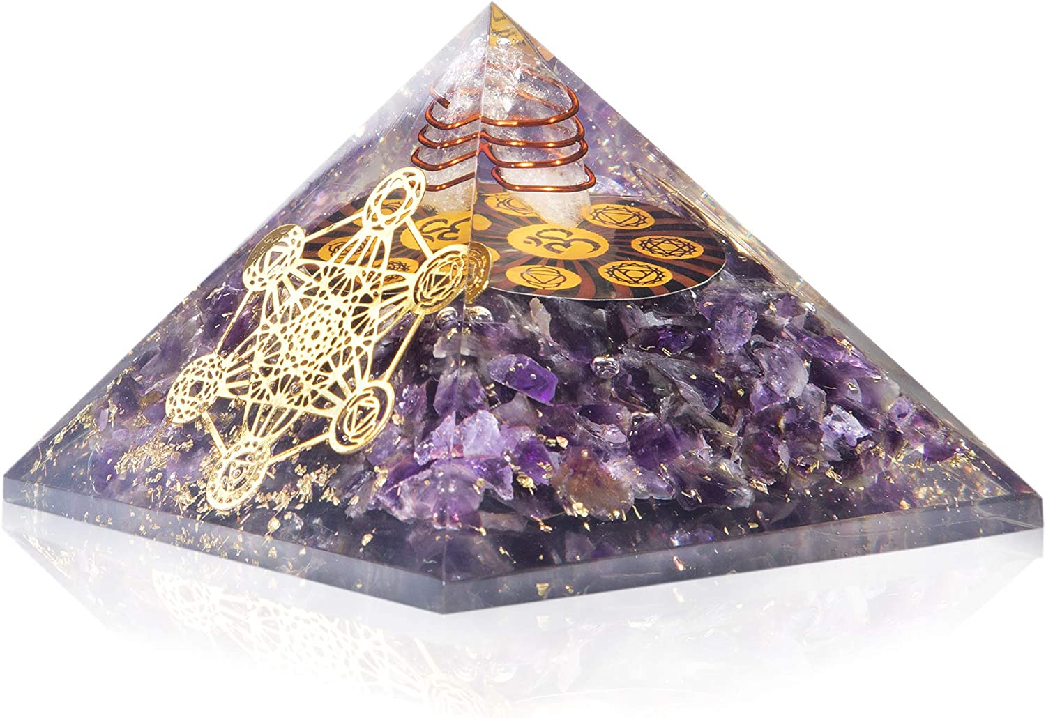 Amethyst Orgone OFFer Crystal Pyramid X Ch Popular shop is the lowest price challenge Gemstone Energy MM Large~75