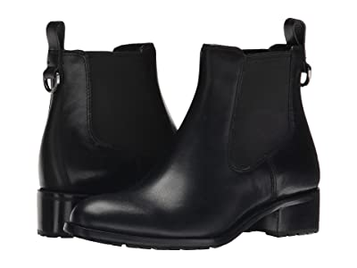 Cole Haan Newburg Waterproof Bootie (Black Leather) Women