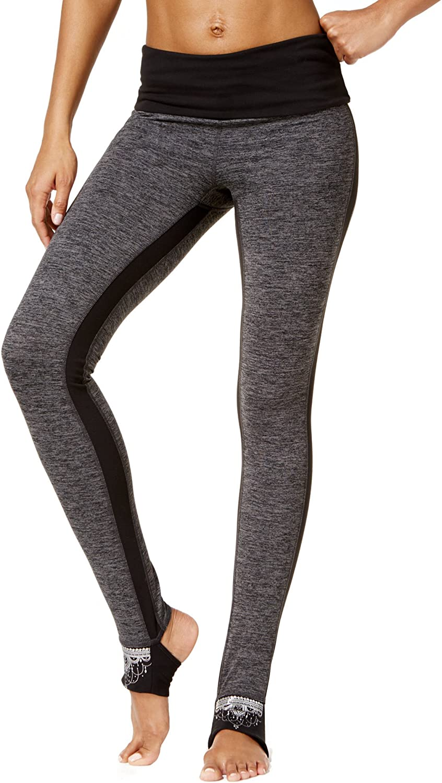 Gaiam Womens Avalon OM Fit Heathered Yoga Legging