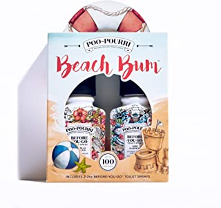 Poo-Pourri Before-You-Go Toilet Spray, Beach Bum Set of 2, Ship Happens & Tropical Hibiscus Scent
