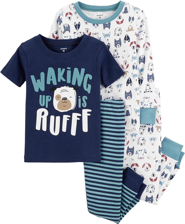 Carter's Toddler Boys 4 Pc Pajama PJs Sleep Play Sleep Snug fit Cotton Dog (2T)