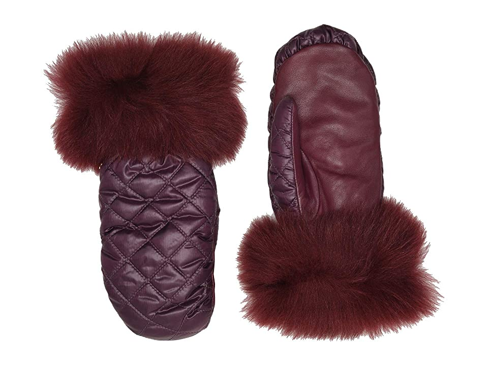 UGG Quilted All Weather Water Resistant Tech Mitten (Port) Extreme Cold Weather Gloves