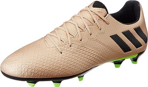 Adidas Messi 16.3 FG, Sautope da Calcio Uomo, Marronee (Bronzo Cobmet Negbas Versol), 46 EU