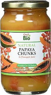 Cecil Bio Papaia a pezzi, naturale, 350 ml, confezione da 6