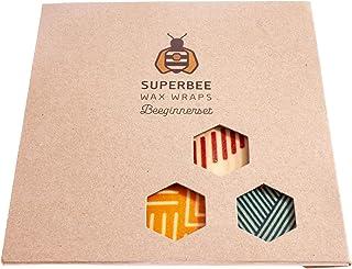 SuperBee Wax Wraps   Bienenwachstücher   BEEginnerset   3 Tücher   Crossing Bridges