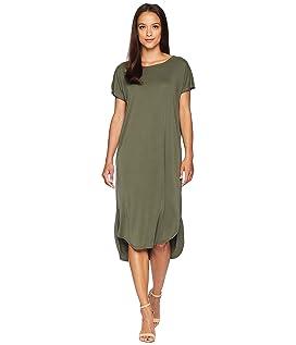 Leona Short Sleeve Sandwashed Dress