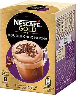 NESCAFE GOLD Double Choc MOCHA Instant Foaming Coffee with Chocolate Mix - 23 gm x 8 Sticks