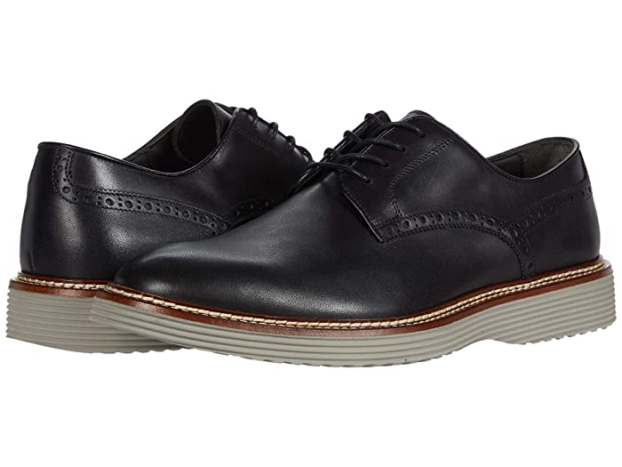 JandM Collection  Casteel Plain Toe (Black) Mens Shoes