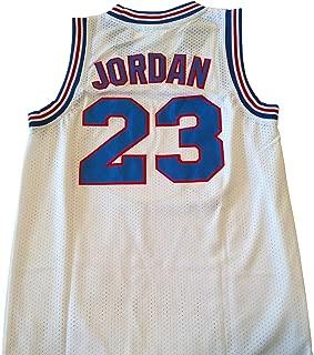 AIFFEE Men's 23 Space Jam Basketball Jersey Sports Shirts White Black Color Size S,M,L,XL,XXL,XXXL