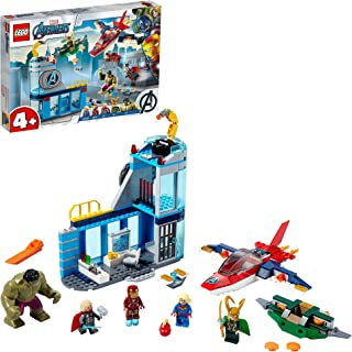 LEGO Marvel Super Heroes Avengers Wrath of Loki 76152 building set with 5 minifigures, Toy for Boys and Girls 4+ years old...