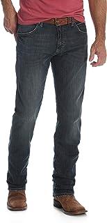 سروال جينز من رانغلر للرجال بقصة ريترو ضيقة ومستقيمة للارجل