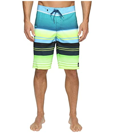 Quiksilver Everyday Stripe Vee 21 Boardshorts (Moroccan Blue) Men