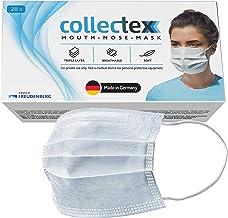 Vileda Collectex maseczki na usta i nos z włókniny, 20 sztuk, 3-warstwowe maski jednorazowe