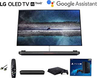 LG OLED65W9PUA Signature OLED TV W9-4K HDR Smart TV w/AI ThinQ Bundle w/Sonos Beam Soundbar w/ PS4 Pro 4K w/HDMI Cable