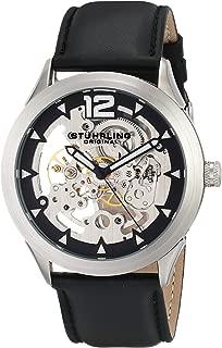 Stuhrling Original Men's 671.01 Legacy Mechanical Skeleton Black Watch