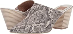 Snake Print Embossed Leather