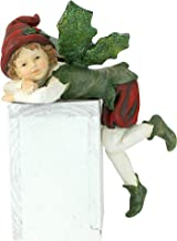 Christmas Decorations - Elijah, Santa's Xmas Elf Shelf Sitter Holiday Statue