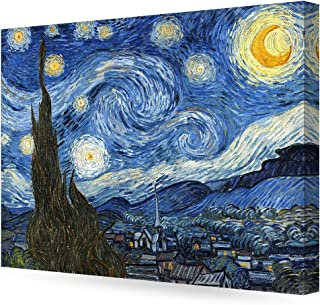 DECORARTS - Starry Night, Vincent Van Gogh Art Reproduction. Giclee Canvas Prints Wall Art for Home Decor 30x24 x1.5