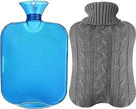 همه یک تکنولوژی شفاف کلاسیک لاستیک بطری آب گرم با پوشش جین - آبی