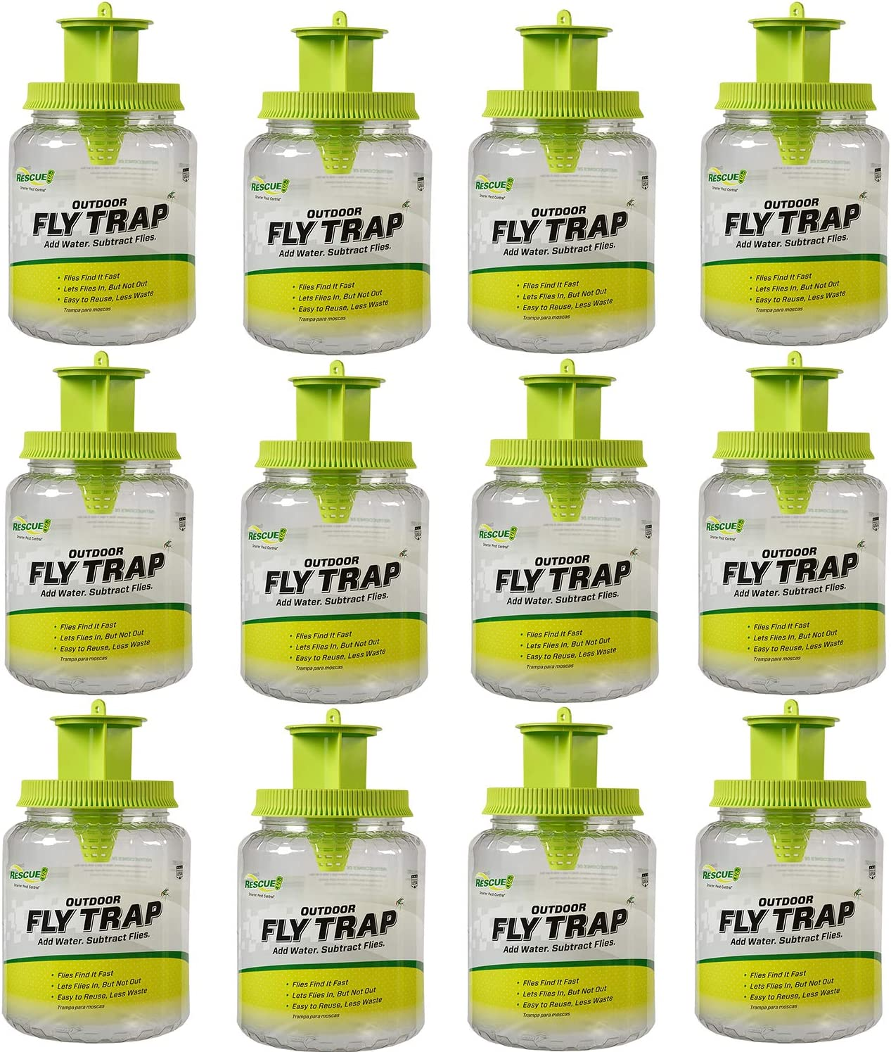 RESCUE Outdoor デポー Fly Trap - 受賞店 12 Reusable Traps