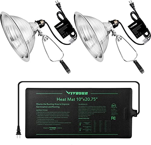 """high quality VIVOSUN Durable Waterproof Seedling Heat Mat 10"""" x sale 20.75"""" and sale Clamp Lamp(No Bulb Included) outlet sale"""