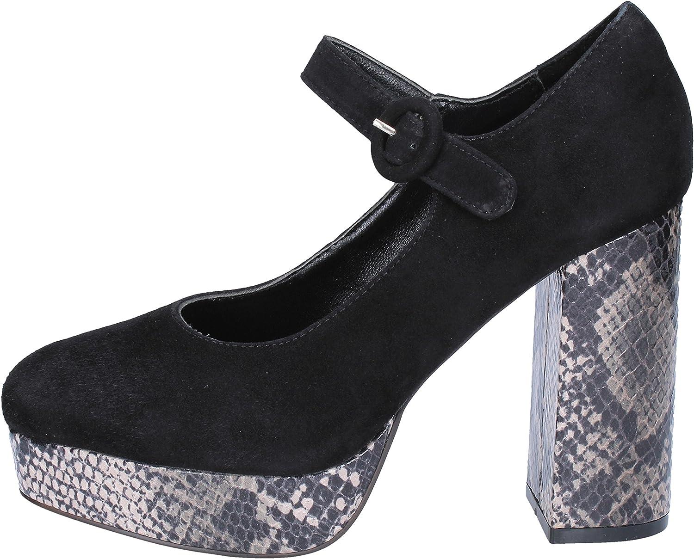 EMANUELLE VEE Pumps-shoes Womens Suede Black